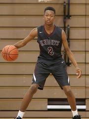 Sacred Heart's Dontae Williamson was named the All-West Tennessee Boys Basketball Newcomer of the Year.