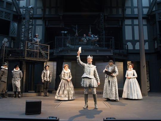 The ensemble listens to Gertrude (Robin Goodrin Nordli)