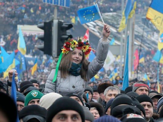 AP Ukraine Protest