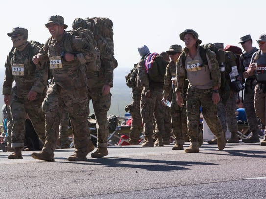 The 7,200 participants many active duty or retired