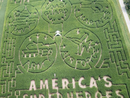 Summers Farm in Frederick, Maryland, features a tribute to the military in its corn maze.