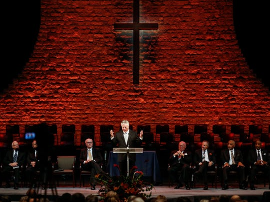 New General Superintendent Doug Clay speaks during