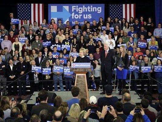 Hillary Clinton, Former President Bill Clinton, Chelsea Clinton