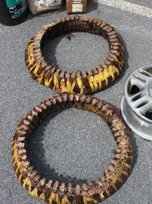 Pennsylvania State Police at Lickdale are looking for the owner of these industrial-sized copper generator cores that were found in a man's vehicle in April along with other stolen scrap metal.