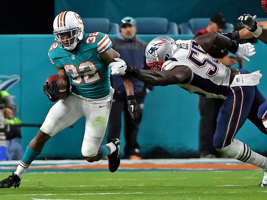 Kenyan Drake has become the key running back for Miami.