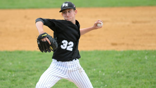 Bishop Eustace's Joe Mascio delivers during a game in the Diamond Classic in 2018. Mascio is one of South Jersey's pitchers to watch in 2021.