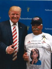 John Piña with President Trump.