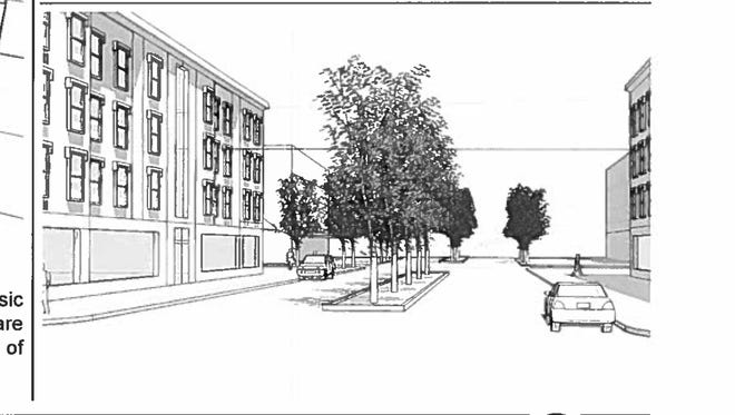 An artist's conceptual drawing of a redeveloped Main Street in Bloomingdale from a 2006 report known as the Main Street Vision Plan.