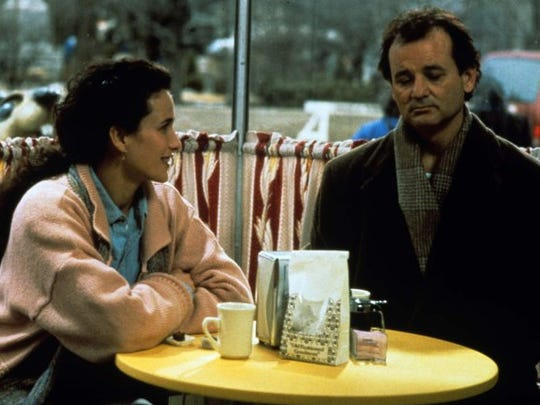 """Bill Murray (right) and Andie MacDowell in """"Groundhog Day"""" (1993.)"""