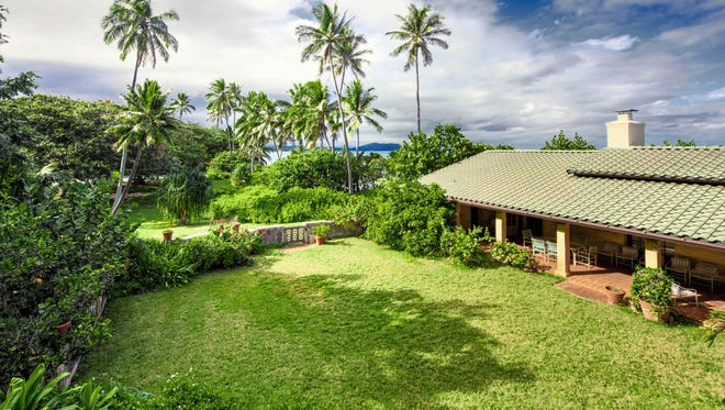 "A home in Waimanalo, Hawaii once used for the filming of the 1980s television show ""Magnum, P.I."" The 3-acre oceanfront property has sold for $8.7 million to a close friend of President Barack Obama."