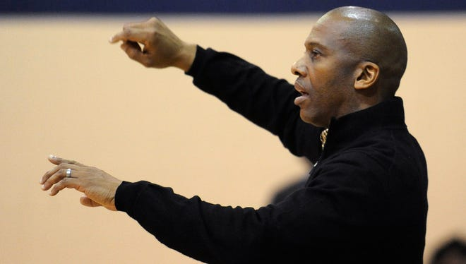 Montgomery Academy coach Anthony McCall at the Capital City Classic basketball tournament at Trinity High School in Montgomery, Ala. Friday December 26, 2014.