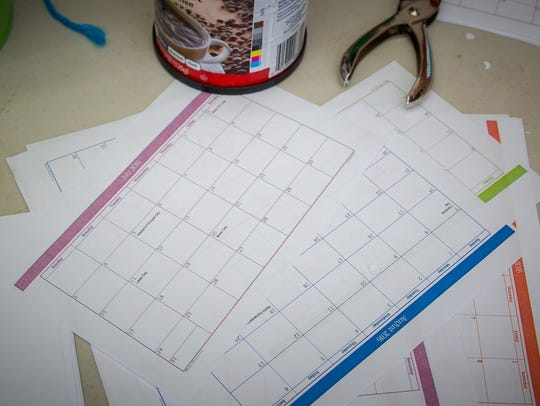 Materials for making calendars at the Museum of Nature