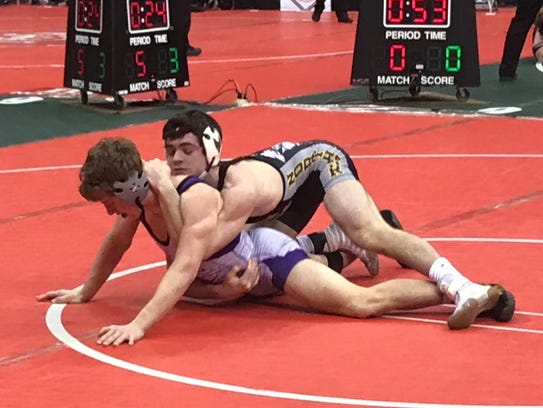 Northmor sophomore Conor Becker won five straight matches