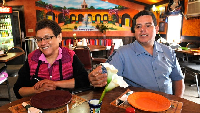Anna Rosa Hernandez and her son Alfredo Hernandez talk about their experiences running El Portal restaurant in Melrose.