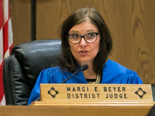 Judge Marci Beyer, of the 3rd Judicial District Court, in Las Cruces