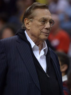Clippers owner Donald Sterling watches his team in December 2012.