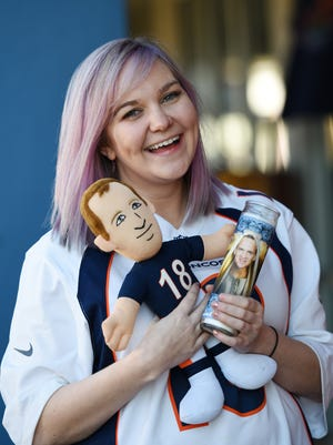 "Self-described as ""the world's biggest Peyton Manning fan,"" Jackson native Paige Adoue is traveling to California to watch what could be the quarterback's final game in Super Bowl 50."