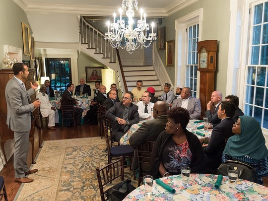 Governor Jack Markell hosts Muslim leaders at Woodburn, the governor's mansion, in Dover for a Ramadan dinner on Wednesday evening.