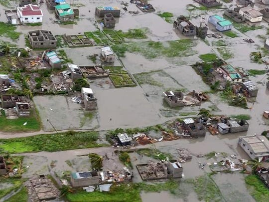 The Red Cross says as much as 90 percent of the central port city of Beira, Mozambique, has been damaged or destroyed by tropical Cyclone Idai.