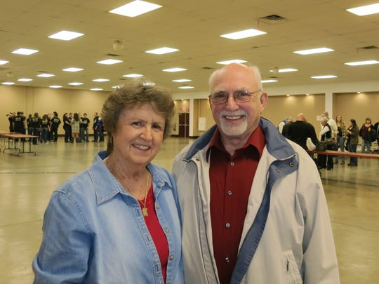 Jeanne and Tom Schneider of Redding attend the Anderson Rotary Crab Feed on Jan. 14 at the Shasta District Fair grounds in Anderson.