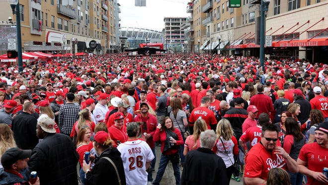 This was the scene at The Banks for Opening Day 2015