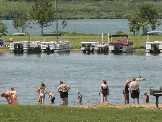 Enjoy swimming, volleyball, kayaking or paddling during