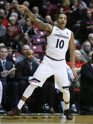 UC guard Troy Caupain's mother has never missed one of his home games, and she will also be in Spokane on Friday.