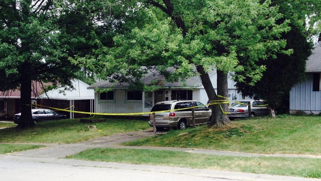 A child was shot Sunday afternoon while playing in his yard in Colerain Township Sunday afternoon, police say.