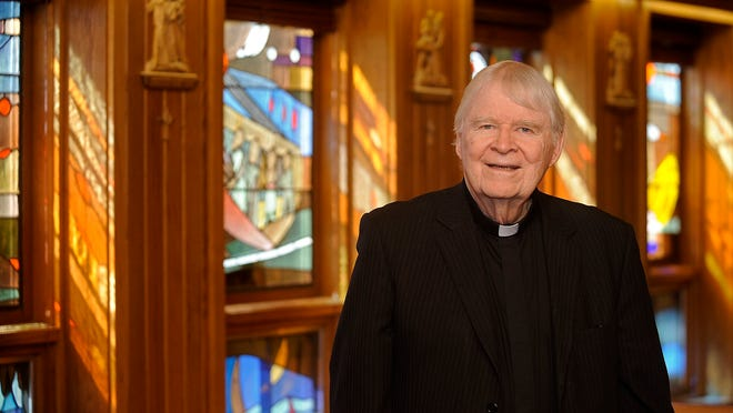 Monsignor James Michael Doyle at St. Michael's Church in Sioux Falls.