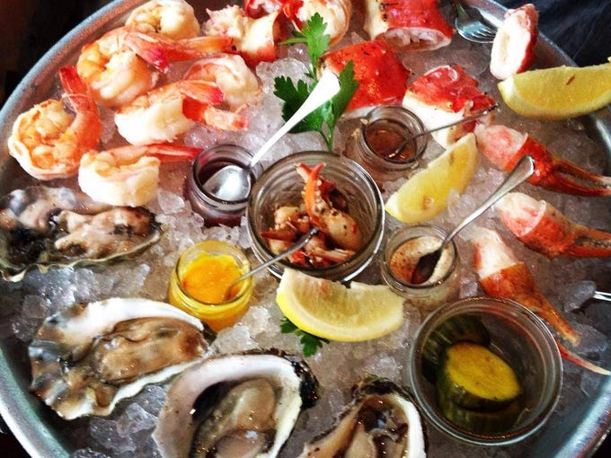 A platter of seafood from The Bay House in North Naples.