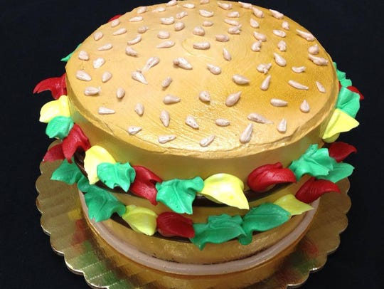 A specialty cake from La Bonbonniere Bake Shoppes.