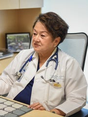 Dr. Edna Acuna, wound care and hyperbaric medicine expert, explains two hyperbaric machines now available at Guam Regional Medical City on Jan. 22.
