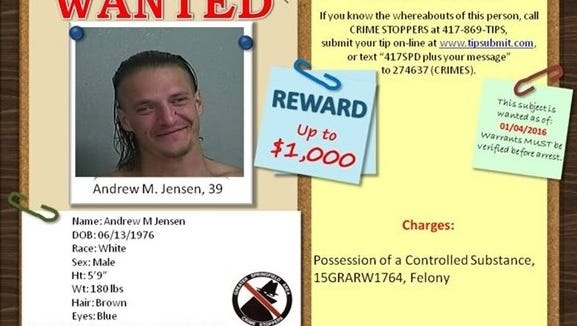 Crime Stoppers is asking for help finding Andrew Jensen.