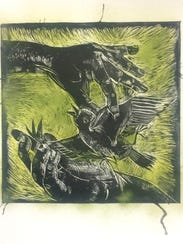 """Artwork by Lura Wilhelm from the """"In Print"""" printmakers"""