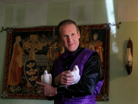 Mark Dolson, a magician and former fitness model at