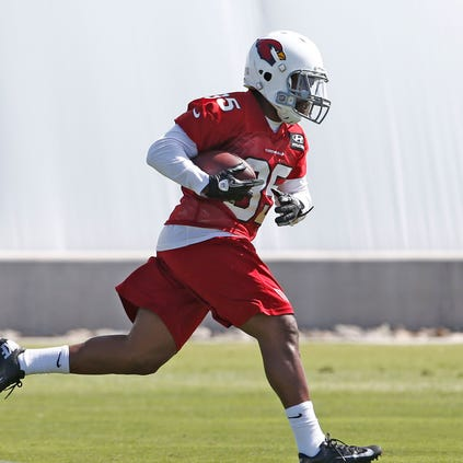 Cardinals running back Zach Bauman during mini camp practice on Wednesday, June 11, 2014 at the Cardinals training facility in Tempe.