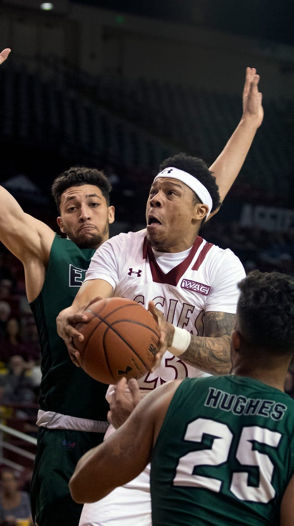 New Mexico State's Zach Lofton has been invited to play in the Portsmouth Invitational.