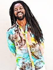 Rocky Dawuni performs at ArtsRiot in Burlington on Friday.