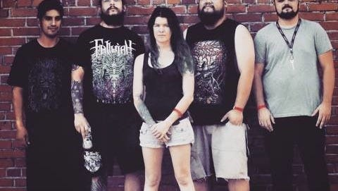 Accursed Creator from left to right: E, Nate Flores, Chelsea Strickland, Derrick Javier, and Taylor Tidwell.