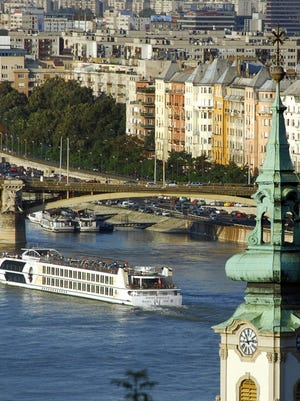 The MS Swiss Emerald cruise ship on a European river cruise operated by the U.S. based tour company Tauck World Discovery in Budapest, Hungary. Smaller cruises are popular among high-end vacationers, industry professionals say.