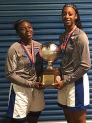 Red River's Makayia Hallmon and Evangel's Tiara Young are among the top girls scoring leaders in northwest Louisiana so far in 2018.