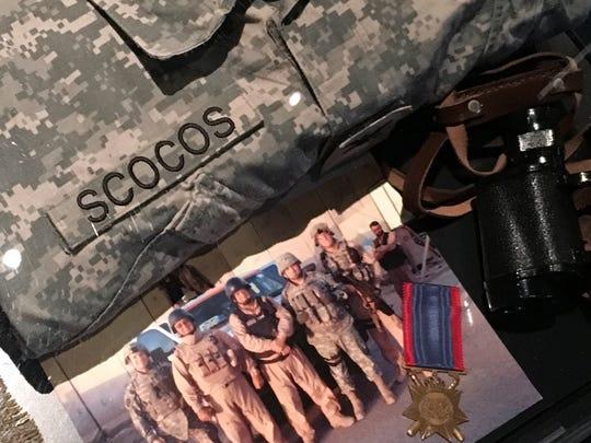 Memorabilia at the veterans museum include items acquired