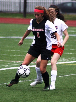 Churchill's Sara Taylor netted a goal and an assist in Thursday's 3-1 victory over Franklin.