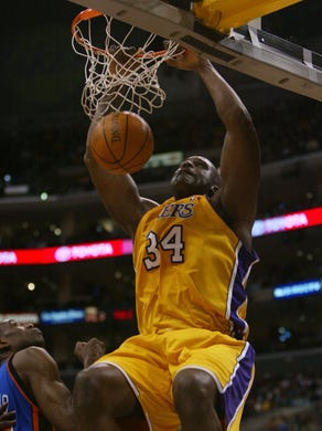 Shaquille O'Neal (Los Angeles Lakers) - O'Neal spent