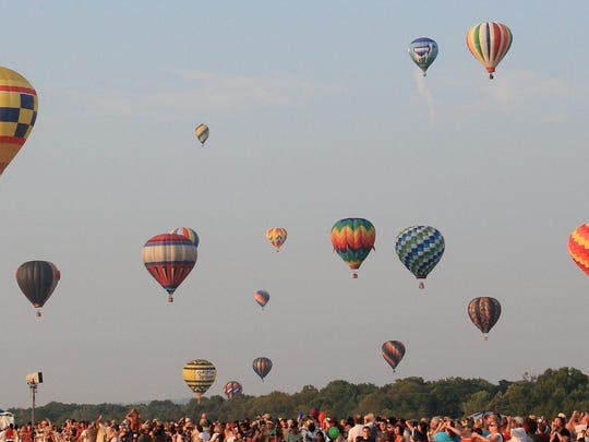 Twice a day, at sunrise and sunset, the balloons will take to the sky with pilots from 21 states and four countries at the 33rd annual festival.