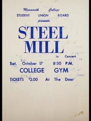 A poster for an October 1970 Steel Mill show at then-Monmouth