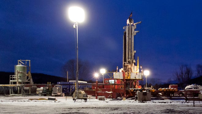 A fracking site in New Milford, Pennsylvania, is seen in this Jan. 17, 2013, file photo.