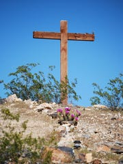 Mountain Park Community Church cross on the hill in