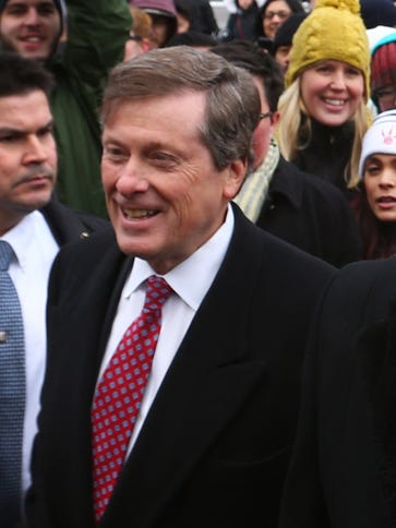 John Tory, mayor of Toronto, is not happy about the