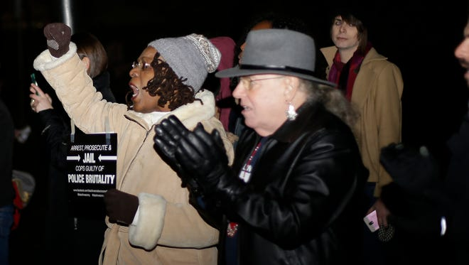 Black Lives Matter held a rally at Findlay Playground in OTR, Tuesday, Dec. 29,2015.